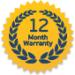 We offer 12 month warranty on parts